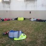 Schlafende Radfahrer überall